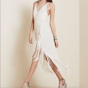 Reformation Henna Fringe Dress M